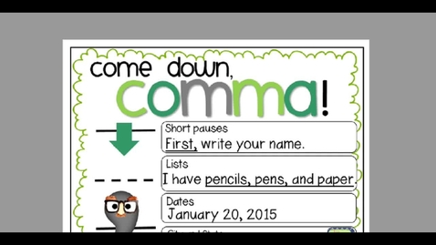 Thumbnail for entry Monday, May 11 Commas