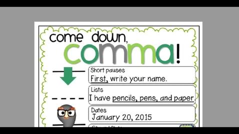 Thumbnail for entry Monday, May 11 Commas