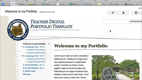 Thumbnail for entry Google Sites - Adding & Placing a Page
