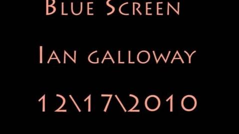 Thumbnail for entry Ian Galloway blue screen