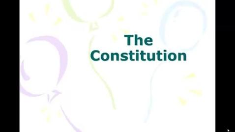 Thumbnail for entry Constitutional Basics