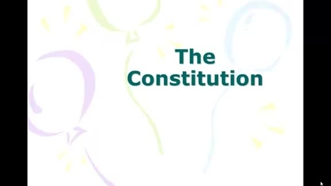 Thumbnail for entry Constitutional Basics
