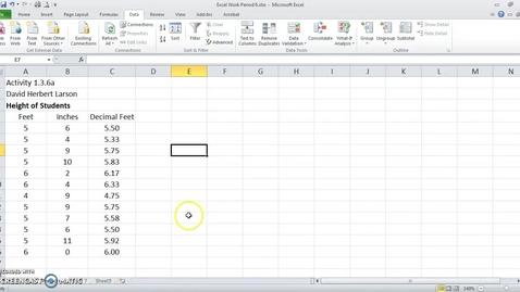 Thumbnail for entry Excel Descriptive Statistics