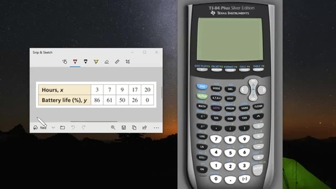 Thumbnail for entry Line of Best Fit (TI-84)
