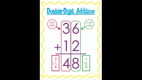 Thumbnail for entry Two digit Addition Monday, May 18