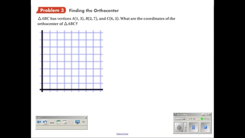 Thumbnail for entry Finding the Orthocenter