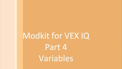 Thumbnail for entry Modkit for Vex Variables