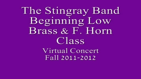 Thumbnail for entry 7th period Beg. Low Brass & F. Horn Class
