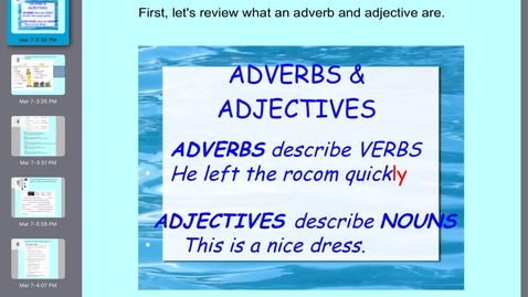 Thumbnail for entry Grammar Lesson 23 Adjectives and Adverbs