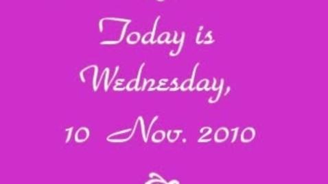 Thumbnail for entry TNN  Wednesday  10 November 2010