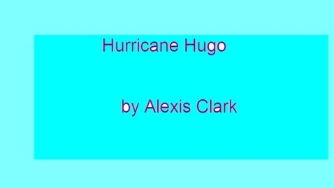 Thumbnail for entry Hurricane Hugo by Alexis