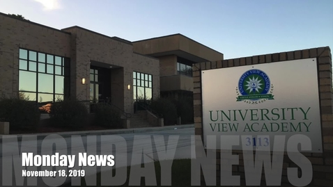 Thumbnail for entry Monday News November 18, 2019