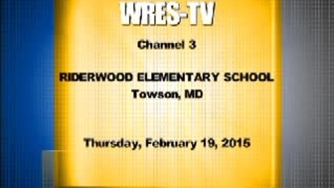 Thumbnail for entry February 19, 2015 WRES-TV Morning Announcements