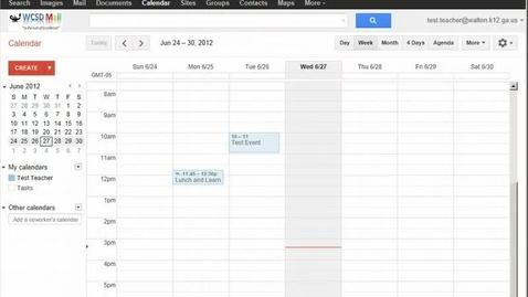Thumbnail for entry GMail Public Calendars
