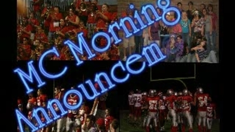 Thumbnail for entry Michigan Center Morning Announcements