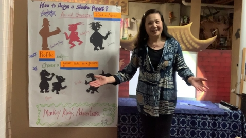 Thumbnail for entry 4thGr Chinese ShadowPuppet Theater T.HuaHua Lesson 7