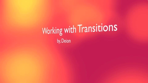 Thumbnail for entry iMovie Transitions