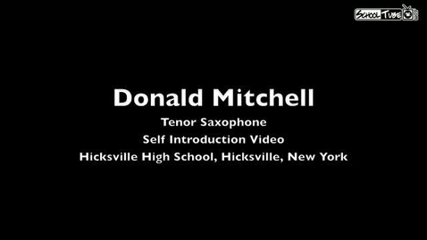 Thumbnail for entry Donald Mitchell - Self Introduction Video