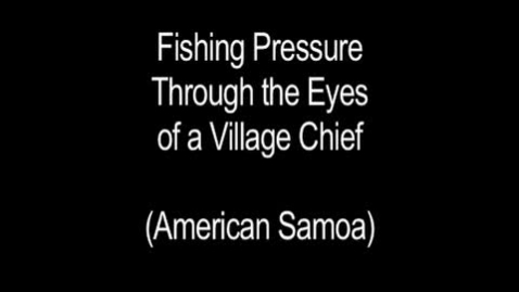 Thumbnail for entry Interview with Samoan Chief