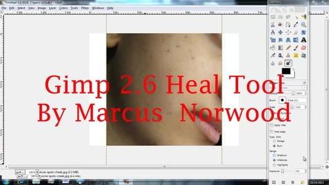 Thumbnail for entry Gimp Heal Tool