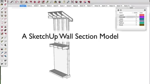 Thumbnail for entry A Look at a ShetchUp Wall Section Model