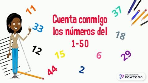 Thumbnail for entry Contar números del 1 al 50