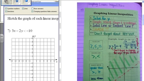 Thumbnail for entry Graphing Linear Inequalities #5