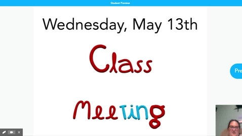 Thumbnail for entry Class meeting 5.13