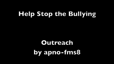 Thumbnail for entry Bulling Outreach