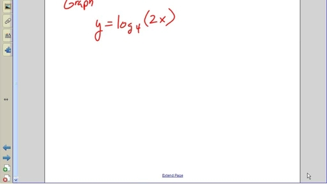 Thumbnail for entry Juda Math - Graphing log functions