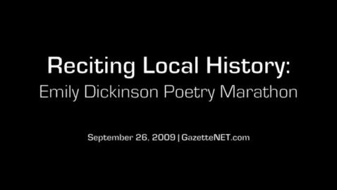 Thumbnail for entry The Emily Dickinson poetry marathon
