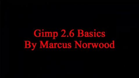 Thumbnail for entry Gimp Basics