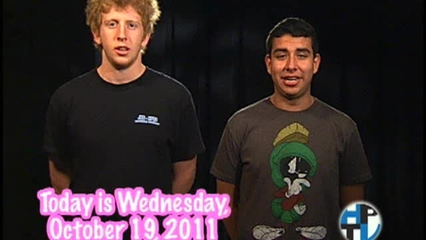 Thumbnail for entry Wednesday, October 19, 2011