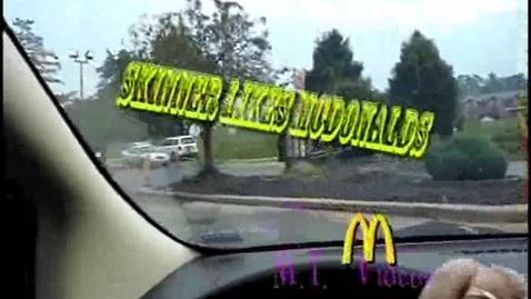 Thumbnail for entry Skinner likes mcdonalds