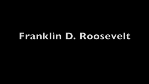 Thumbnail for entry Franklin D. Roosevelt