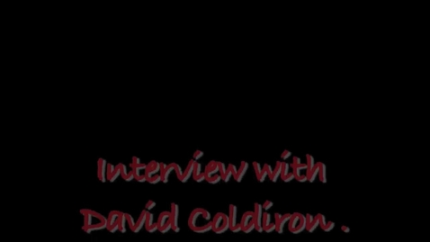 Thumbnail for entry Interview with David Coldiron