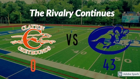 Thumbnail for entry Ladue vs. Clayton football hype video