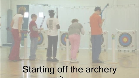 Thumbnail for entry Archery Class at Sharon Elementary