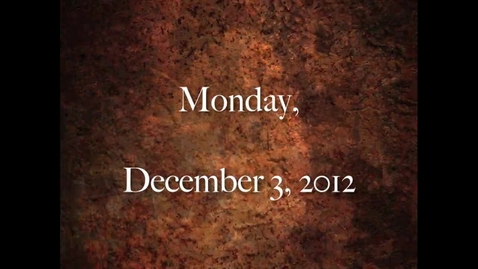 Thumbnail for entry Monday, December 3, 2012