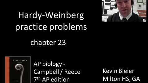 Thumbnail for entry Hardy-Weinberg practice problems
