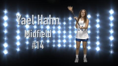 Thumbnail for entry Yael Hahn_Lacrosses senior profile