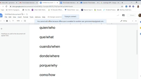 Thumbnail for entry Pronunciacion or pronunciation of question starters