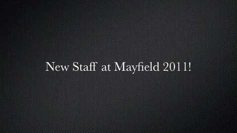 Thumbnail for entry New Teachers at Mayfield City Schools