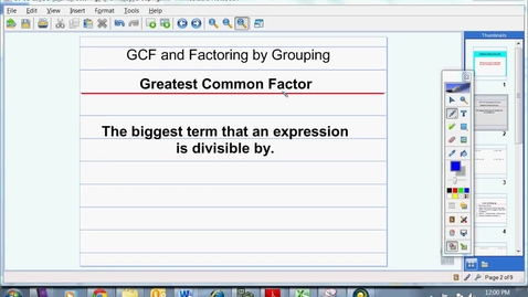 Thumbnail for entry GCF and Factoring by Grouping