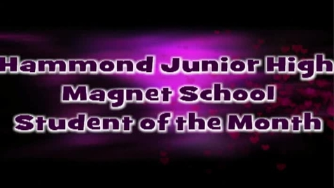 Thumbnail for entry HJHMS Student of the Month - Naila