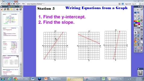 Thumbnail for entry 2.3 Station 5: Writing Equation from a Graph