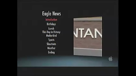 Thumbnail for entry Eagle News for October 29th, 2012