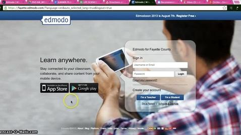 Thumbnail for entry Edmodo_Teacher Login Instructions
