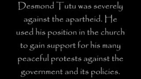 Thumbnail for entry Desmond Tutu and the Apartheid
