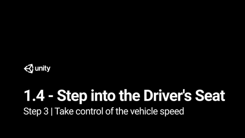 Thumbnail for entry Step 3 - Take control of the vehicle speed